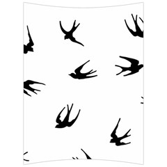 Black Bird Fly Sky Back Support Cushion by Alisyart