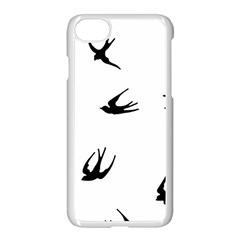 Black Bird Fly Sky Apple Iphone 8 Seamless Case (white) by Alisyart