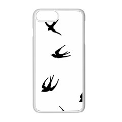 Black Bird Fly Sky Apple Iphone 8 Plus Seamless Case (white)