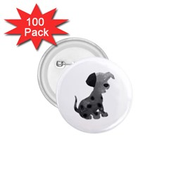 Dalmatian Inspired Silhouette 1 75  Buttons (100 Pack)  by InspiredShadows