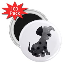 Dalmatian Inspired Silhouette 2 25  Magnets (100 Pack)  by InspiredShadows