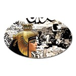 Cleopatra Oval Magnet Front