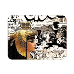 Cleopatra Double Sided Flano Blanket (mini)  by Valentinaart
