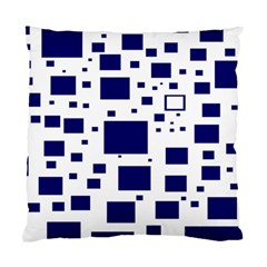 Blue Squares Textures Plaid Standard Cushion Case (two Sides)