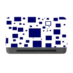 Blue Squares Textures Plaid Memory Card Reader With Cf