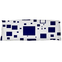 Blue Squares Textures Plaid Body Pillow Case Dakimakura (two Sides)