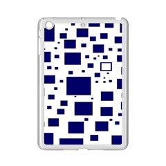 Blue Squares Textures Plaid Ipad Mini 2 Enamel Coated Cases