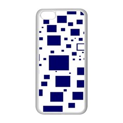 Blue Squares Textures Plaid Apple Iphone 5c Seamless Case (white)