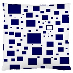Blue Squares Textures Plaid Standard Flano Cushion Case (two Sides) by Alisyart