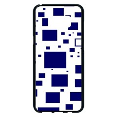 Blue Squares Textures Plaid Samsung Galaxy S8 Plus Black Seamless Case