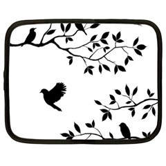 Bird Tree Black Netbook Case (xxl)