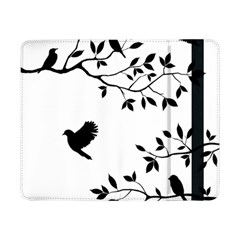 Bird Tree Black Samsung Galaxy Tab Pro 8 4  Flip Case by Alisyart