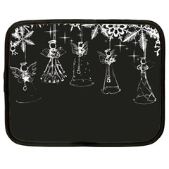Christmas Angels Star Blue Netbook Case (xxl)