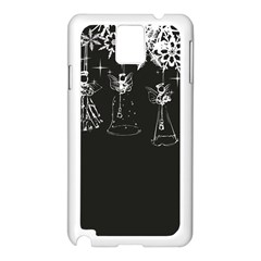 Christmas Angels Star Blue Samsung Galaxy Note 3 N9005 Case (white)
