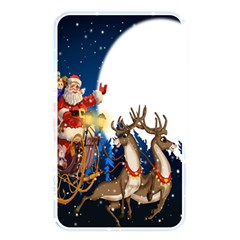 Christmas Reindeer Santa Claus Snow Night Moon Blue Sky Memory Card Reader by Alisyart