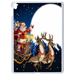 Christmas Reindeer Santa Claus Snow Night Moon Blue Sky Apple Ipad Pro 9 7   White Seamless Case