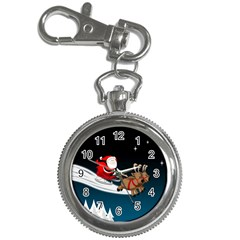 Christmas Reindeer Santa Claus Snow Star Blue Sky Key Chain Watches