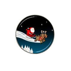 Christmas Reindeer Santa Claus Snow Star Blue Sky Hat Clip Ball Marker (10 Pack)