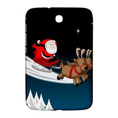 Christmas Reindeer Santa Claus Snow Star Blue Sky Samsung Galaxy Note 8 0 N5100 Hardshell Case  by Alisyart