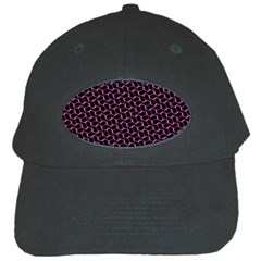 Twisted Mesh Pattern Purple Black Black Cap by Alisyart