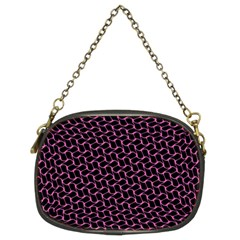 Twisted Mesh Pattern Purple Black Chain Purses (two Sides)
