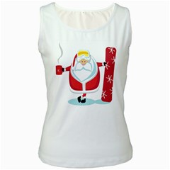 Christmas Santa Claus Women s White Tank Top
