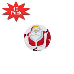 Christmas Santa Claus 1  Mini Buttons (10 Pack)