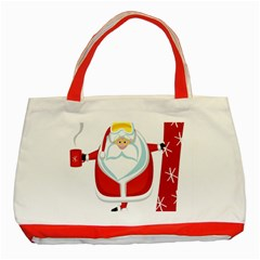 Christmas Santa Claus Classic Tote Bag (red) by Alisyart