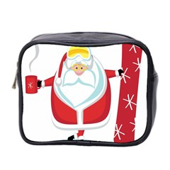 Christmas Santa Claus Mini Toiletries Bag 2 Side