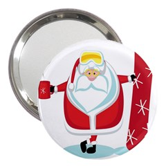 Christmas Santa Claus 3  Handbag Mirrors