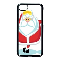 Christmas Santa Claus Apple Iphone 7 Seamless Case (black) by Alisyart