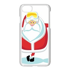 Christmas Santa Claus Apple Iphone 8 Seamless Case (white) by Alisyart
