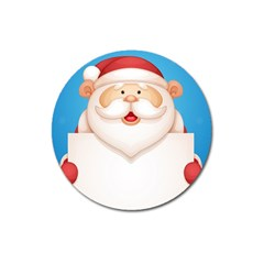 Christmas Santa Claus Letter Magnet 3  (round) by Alisyart
