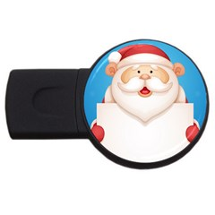 Christmas Santa Claus Letter Usb Flash Drive Round (2 Gb)