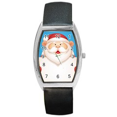 Christmas Santa Claus Letter Barrel Style Metal Watch