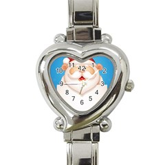 Christmas Santa Claus Letter Heart Italian Charm Watch by Alisyart
