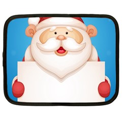 Christmas Santa Claus Letter Netbook Case (large)