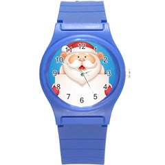 Christmas Santa Claus Letter Round Plastic Sport Watch (s) by Alisyart