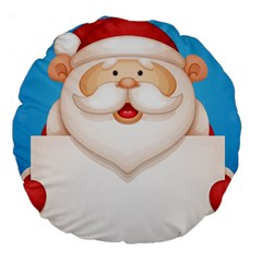 Christmas Santa Claus Letter Large 18  Premium Round Cushions by Alisyart