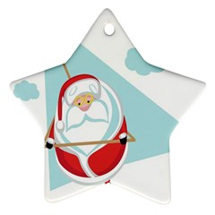 Christmas Santa Claus Paragliding Ornament (star)