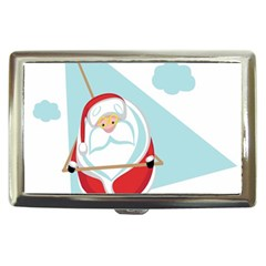 Christmas Santa Claus Paragliding Cigarette Money Cases by Alisyart