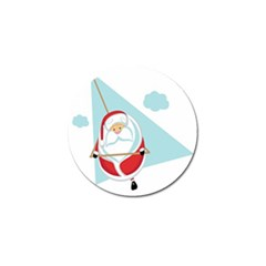 Christmas Santa Claus Paragliding Golf Ball Marker