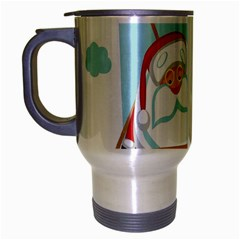 Christmas Santa Claus Paragliding Travel Mug (silver Gray)