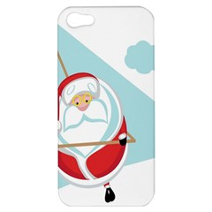 Christmas Santa Claus Paragliding Apple Iphone 5 Hardshell Case