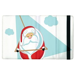 Christmas Santa Claus Paragliding Apple Ipad 2 Flip Case by Alisyart