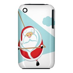 Christmas Santa Claus Paragliding Iphone 3s/3gs