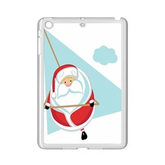 Christmas Santa Claus Paragliding Ipad Mini 2 Enamel Coated Cases