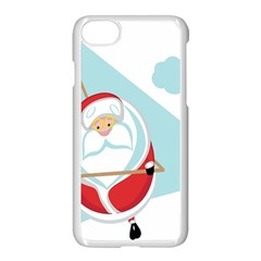 Christmas Santa Claus Paragliding Apple Iphone 8 Seamless Case (white) by Alisyart