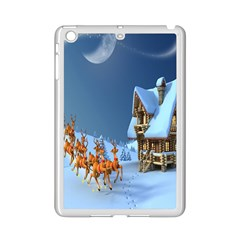 Christmas Reindeer Santa Claus Wooden Snow Ipad Mini 2 Enamel Coated Cases