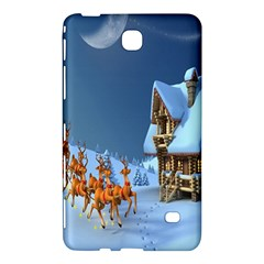 Christmas Reindeer Santa Claus Wooden Snow Samsung Galaxy Tab 4 (8 ) Hardshell Case  by Alisyart